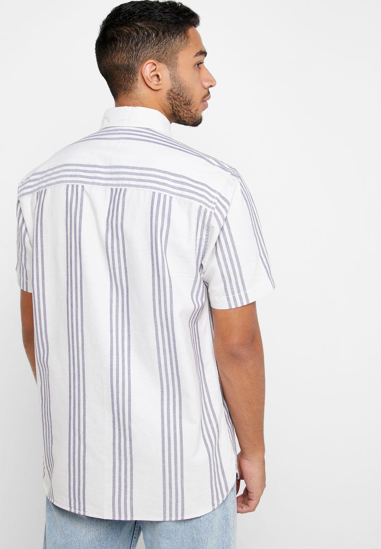 Oxford Striped Slim Fit Shirt