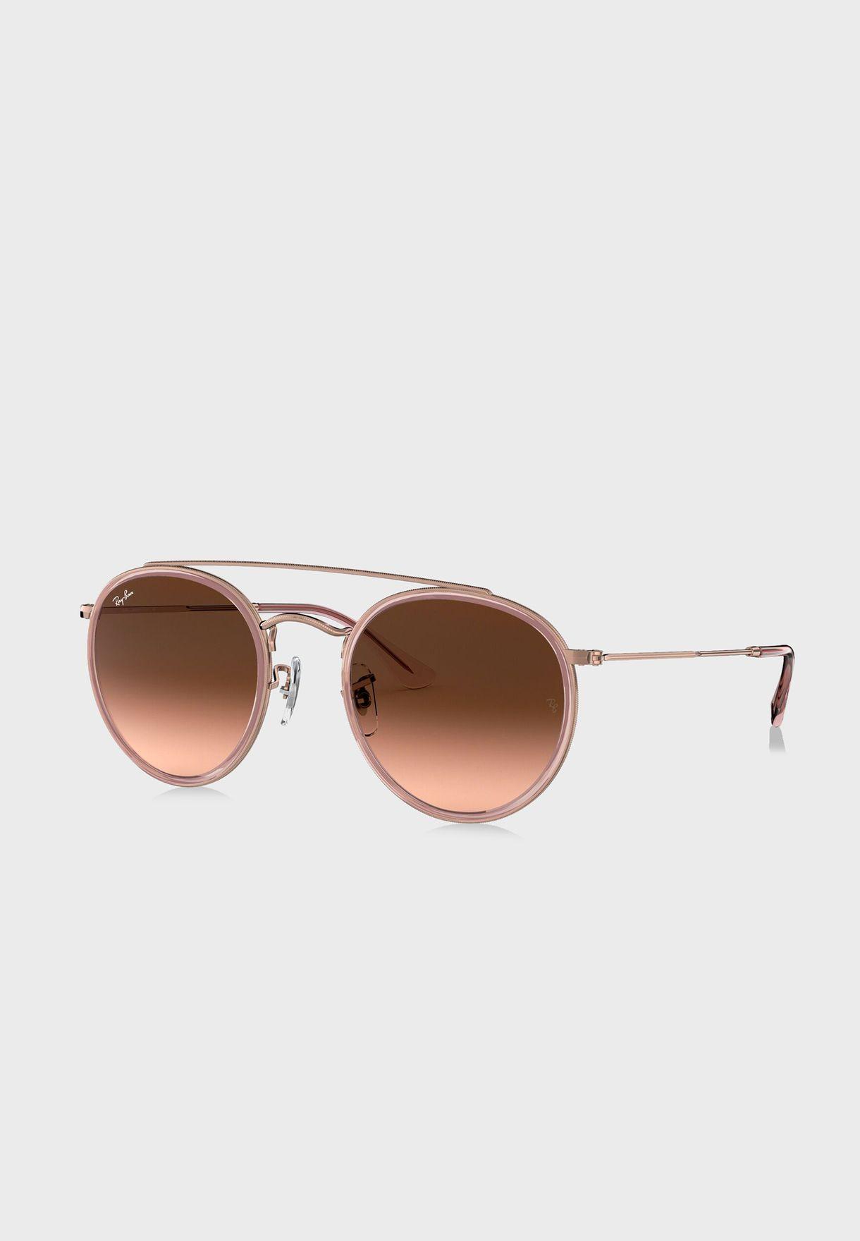 0RB3647N -Round Double Bridge Sunglasses