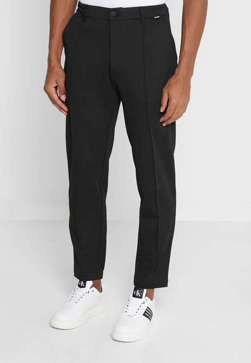 Tapered Elastic Knitted Pants
