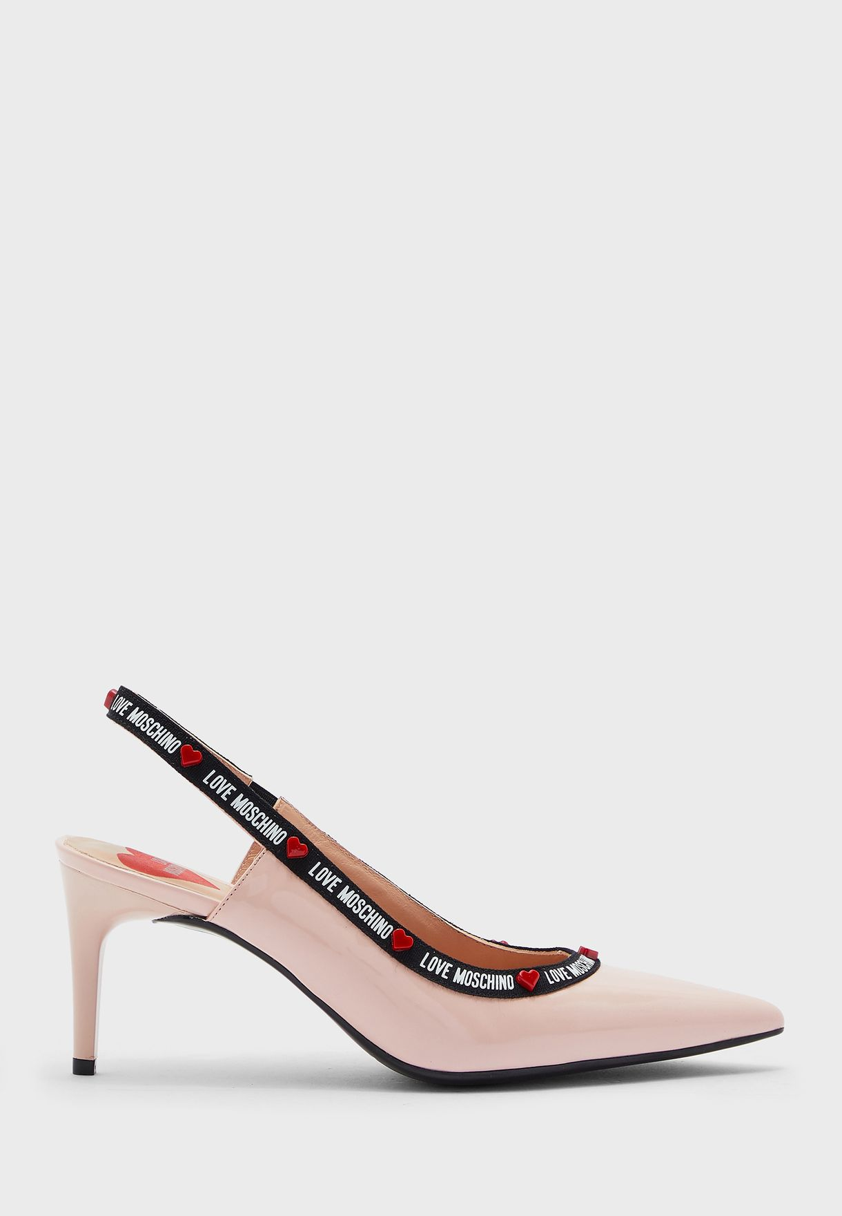 حذاء واسع بكعب عالي مع سير كاحل