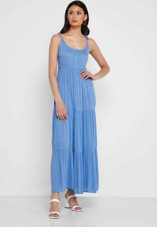 1ad173e9370 Cami Strap Pleated Dress