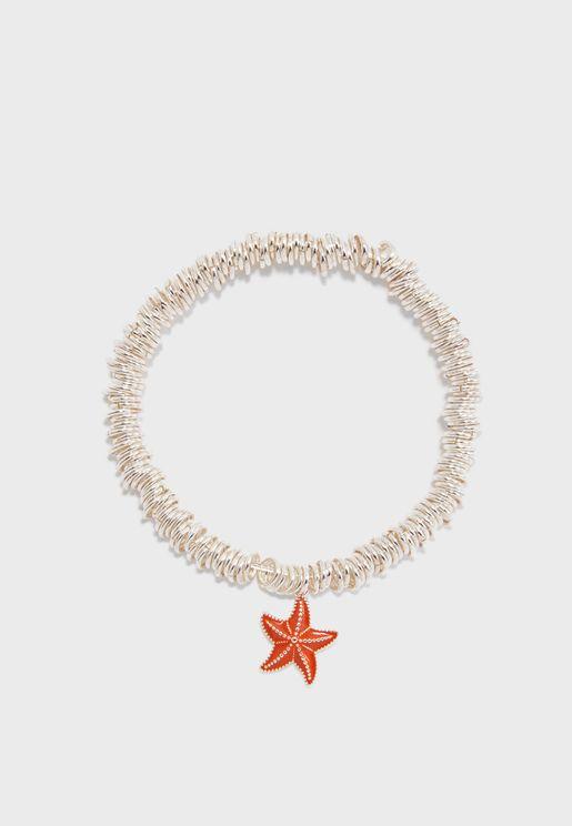 Candy Starfish Charm Bracelet