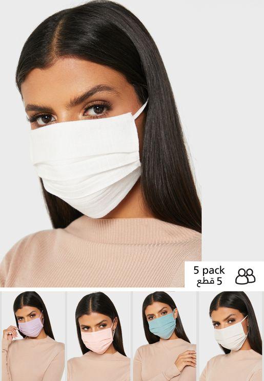 5-Pack Linen Face Mask