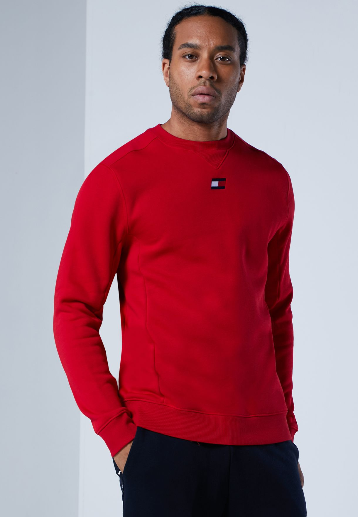 Colour Block Fleece Sweatshirt