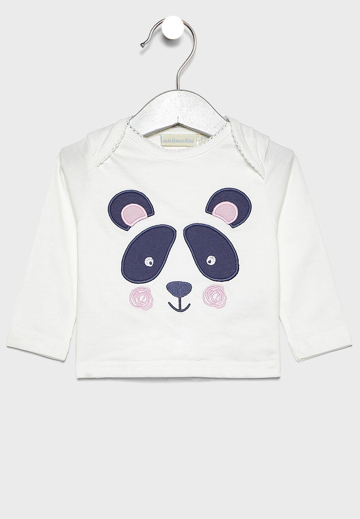 Infant Panda Print T-Shirt