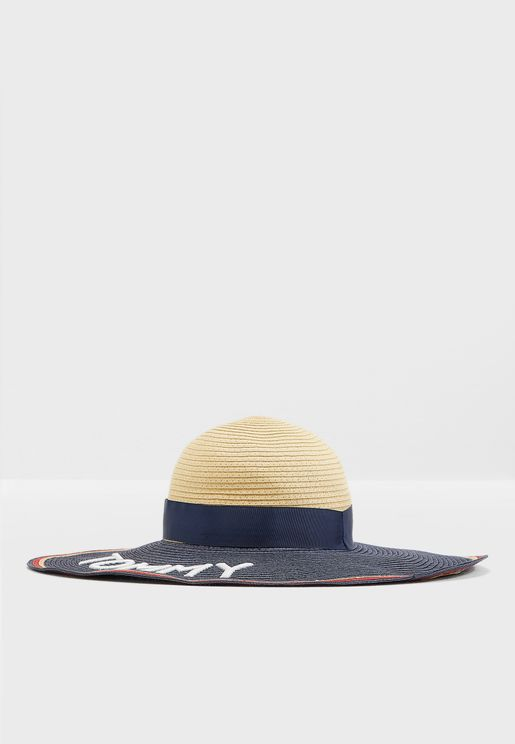 Straw Fedora Bucket Hat