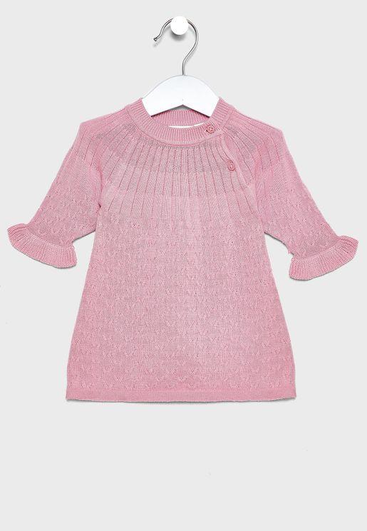 Infant Ribbed Trim Dress