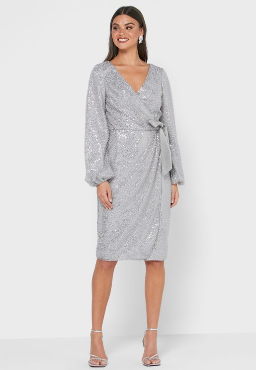 Merl Front Twisted Shift Dress