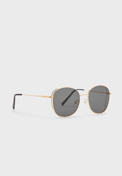 نظارة شمسية اطار معدني بأذرع رفيعة