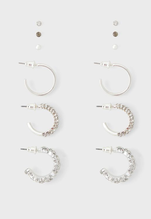 Bling Triple Multipack Earring