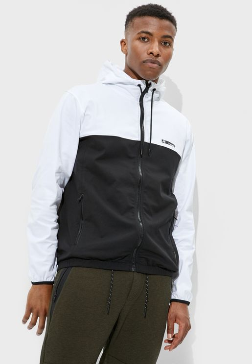 Color Block Windrunner Jacket