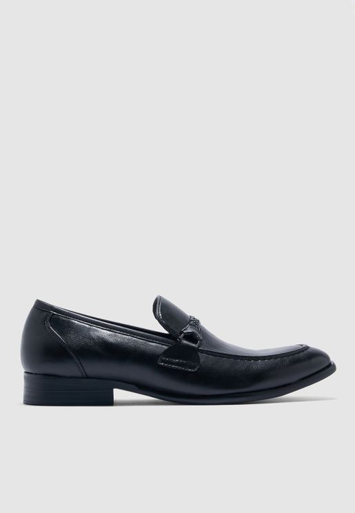 Braided Saddle Formal Slip Ons