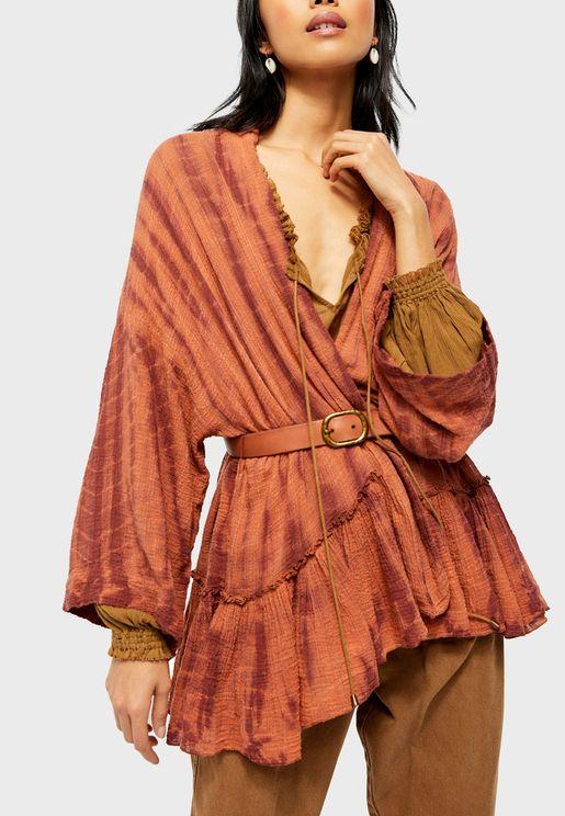 Sasha Tie Dye Plunge Kimono