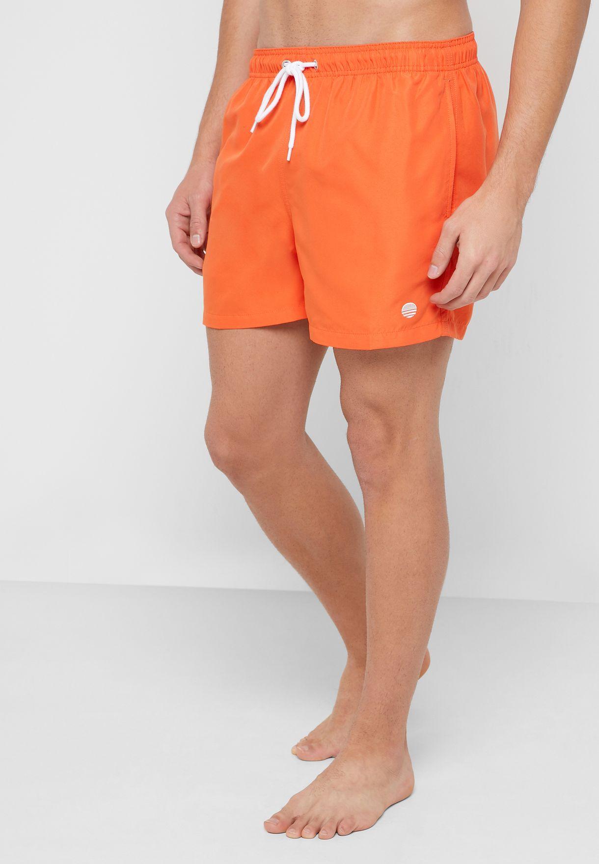 3984099331f0b Shop New Look orange Basic Swim Shorts 614967282 for Men in Kuwait ...