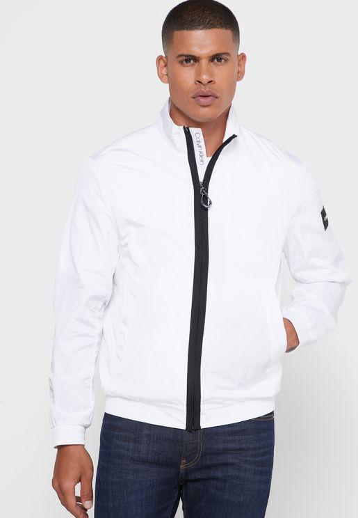 Crinkle Zip Up Jacket