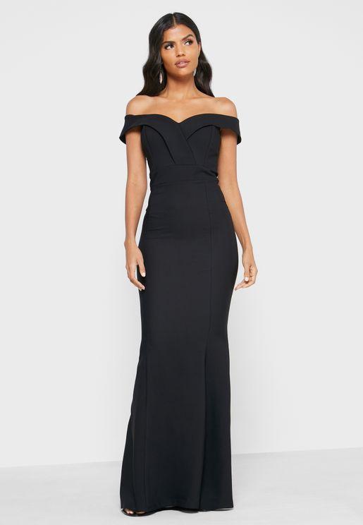 Bardot Plunge Dress