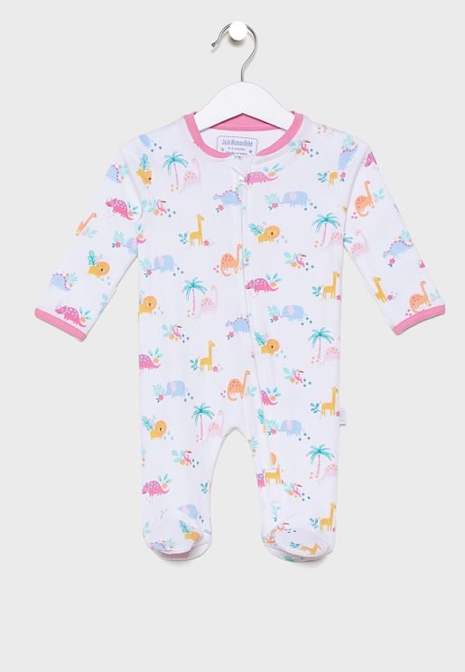 Infant Dinosaur Zip Romper