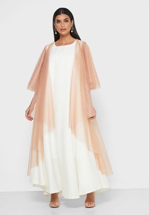 فستان بطبقة كاب