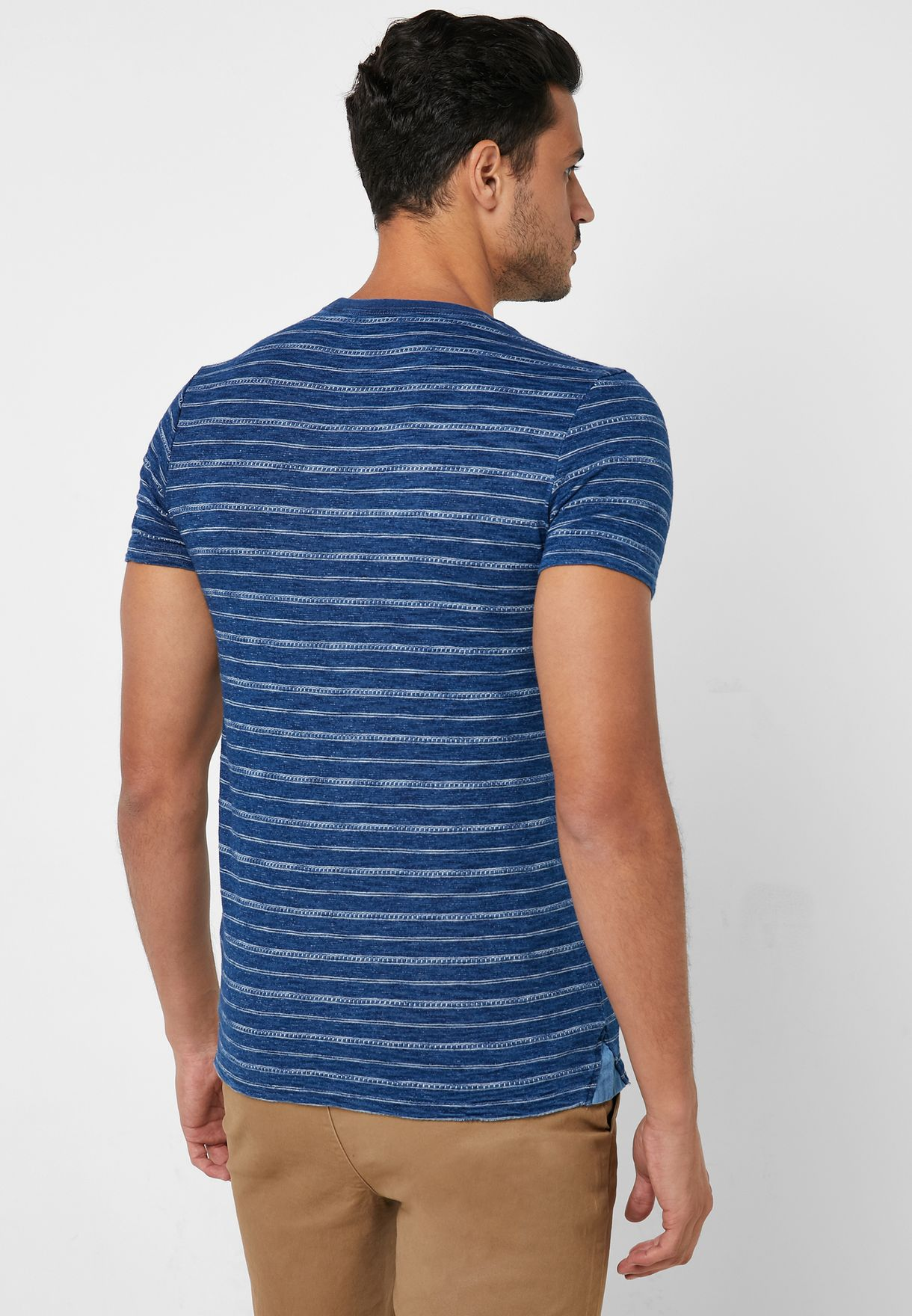 Striped Slim Fit Crew Neck T-Shirt