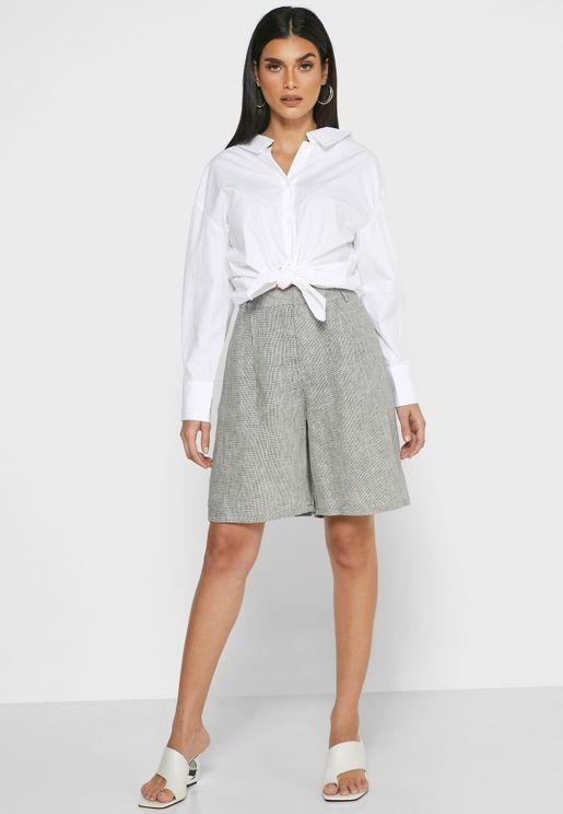 Textured Mini Shorts