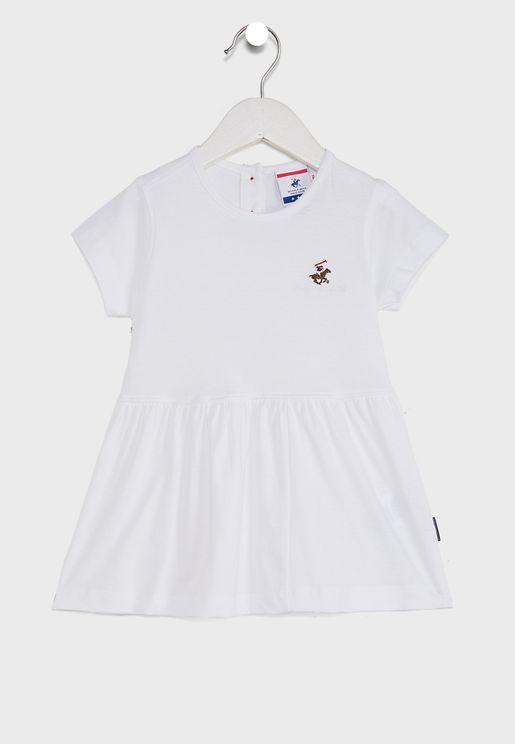 Little Embroidered Logo Dress