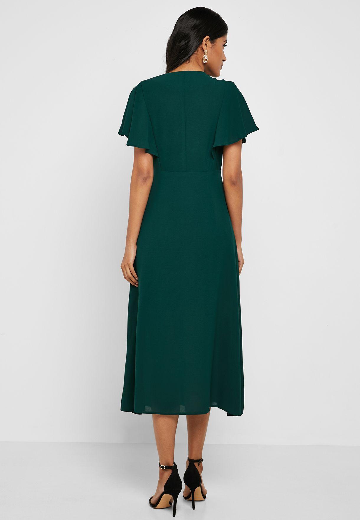 فستان ميدي بأزرار