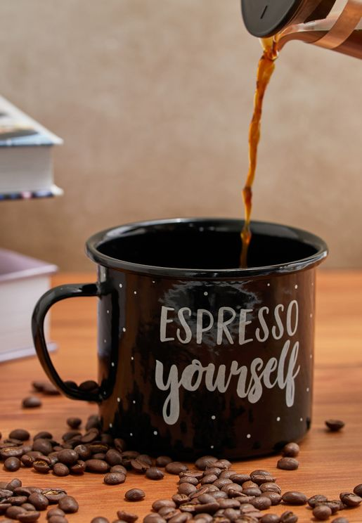 Espresso Yourself Enamel Mug