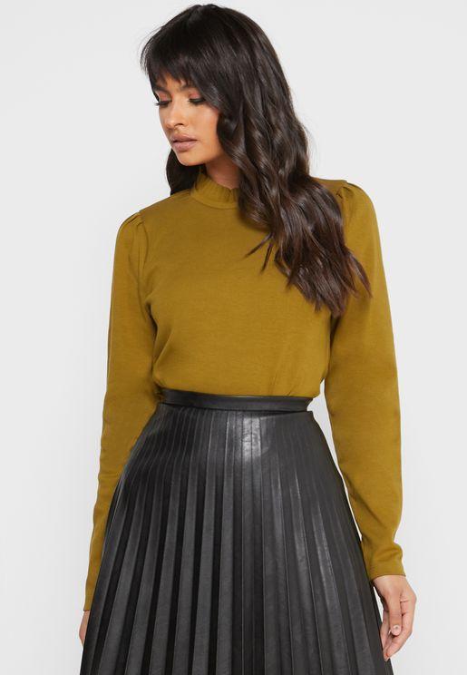 Pleat Detail Sweater
