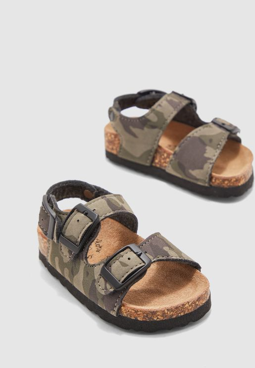Kids Camo Print Sandal