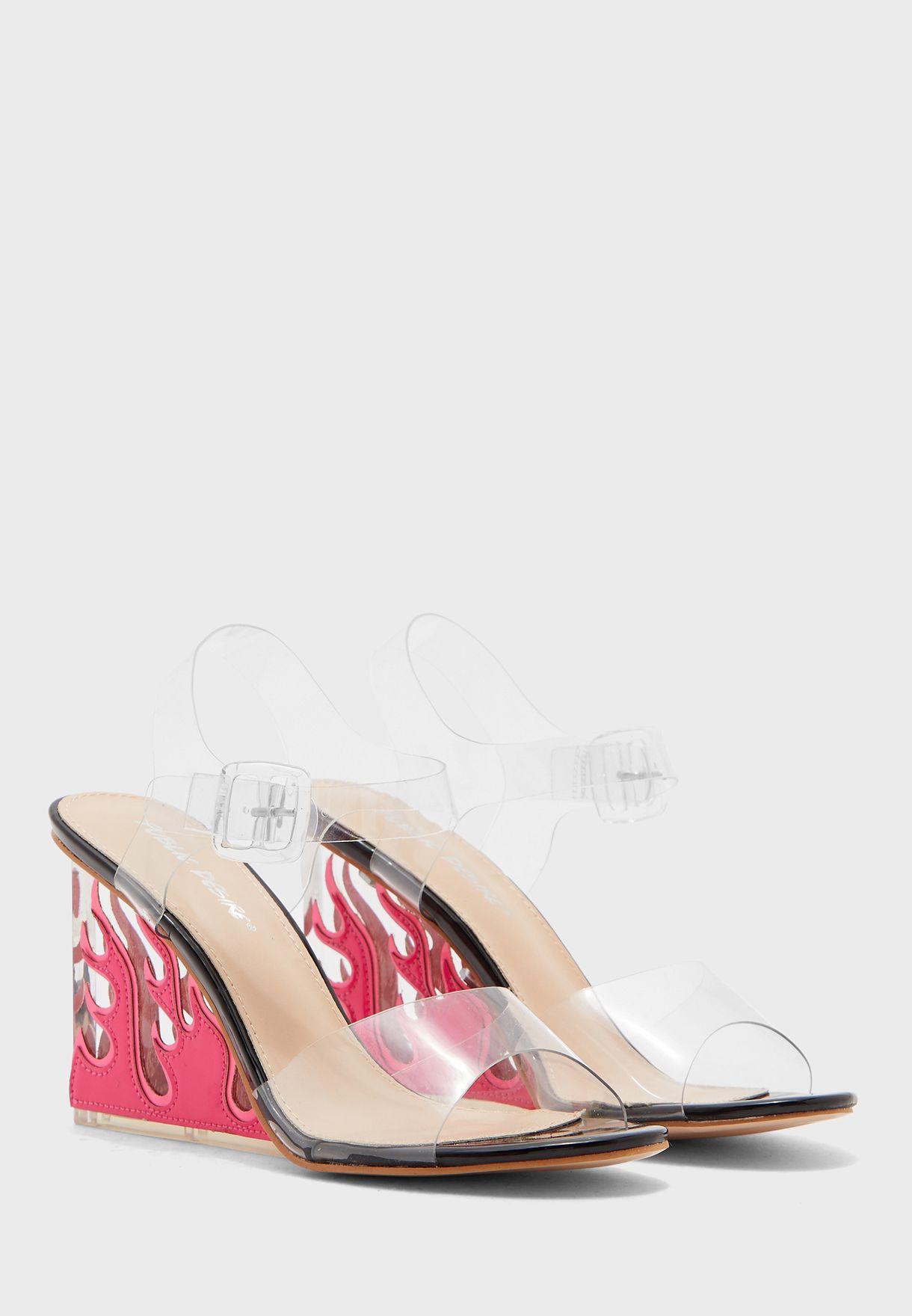 Hot Af Ankle Strap Sandal - Black