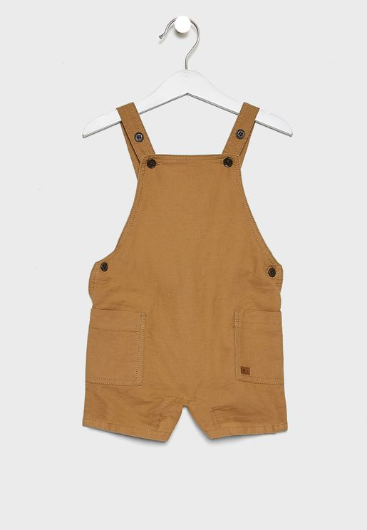 Infant Side Pocket Detail Bibshorts