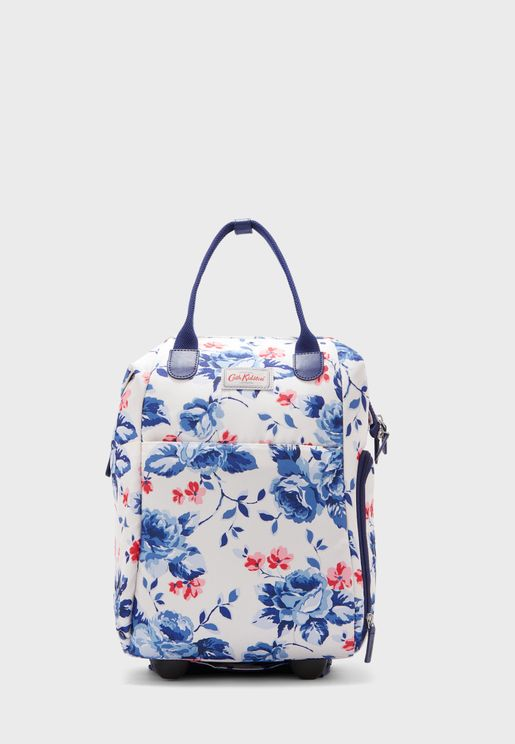 Floral Framed Wheeled Backpack