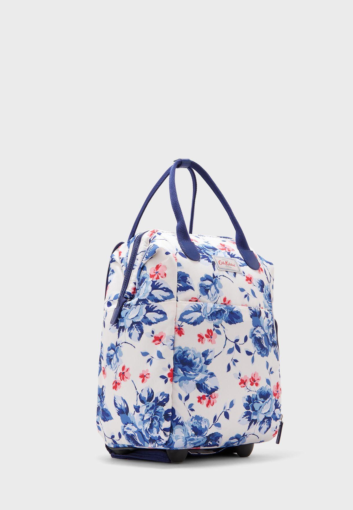 Floral Framed Wheeled Backpack