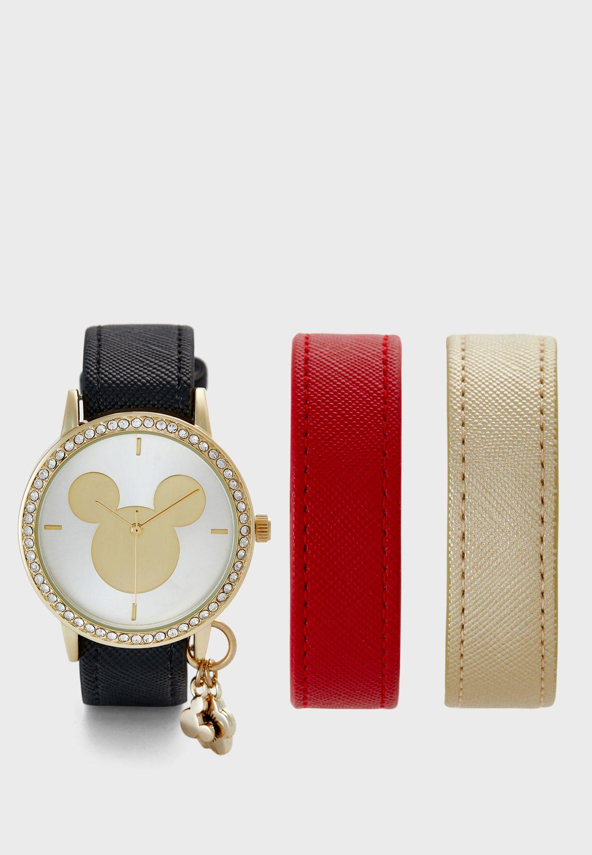 Multistrap Early Mickey Watch