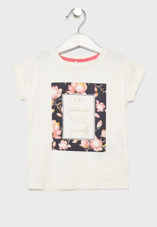 Kids Positive Vibes T-Shirt