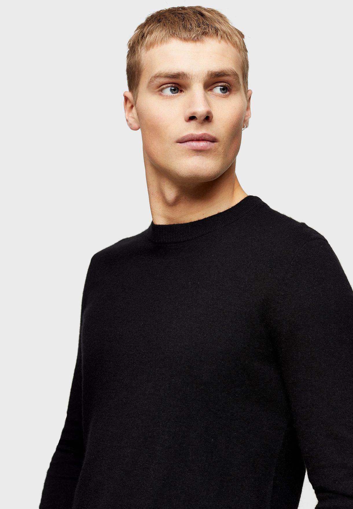 Cashmere Muscle Fit Sweater