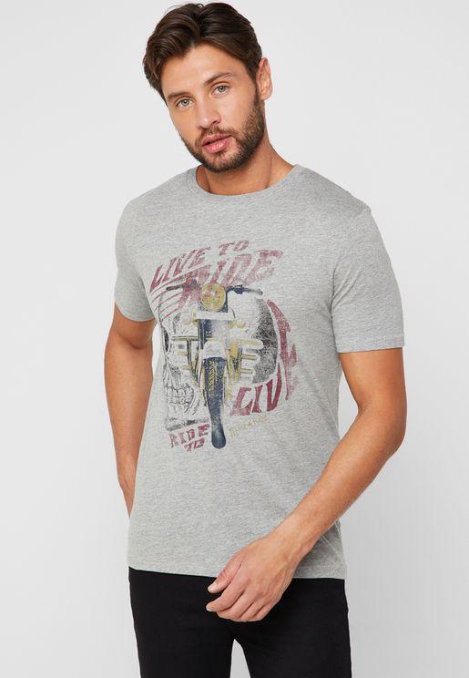 Speed Graphic Crew Neck T-Shirt