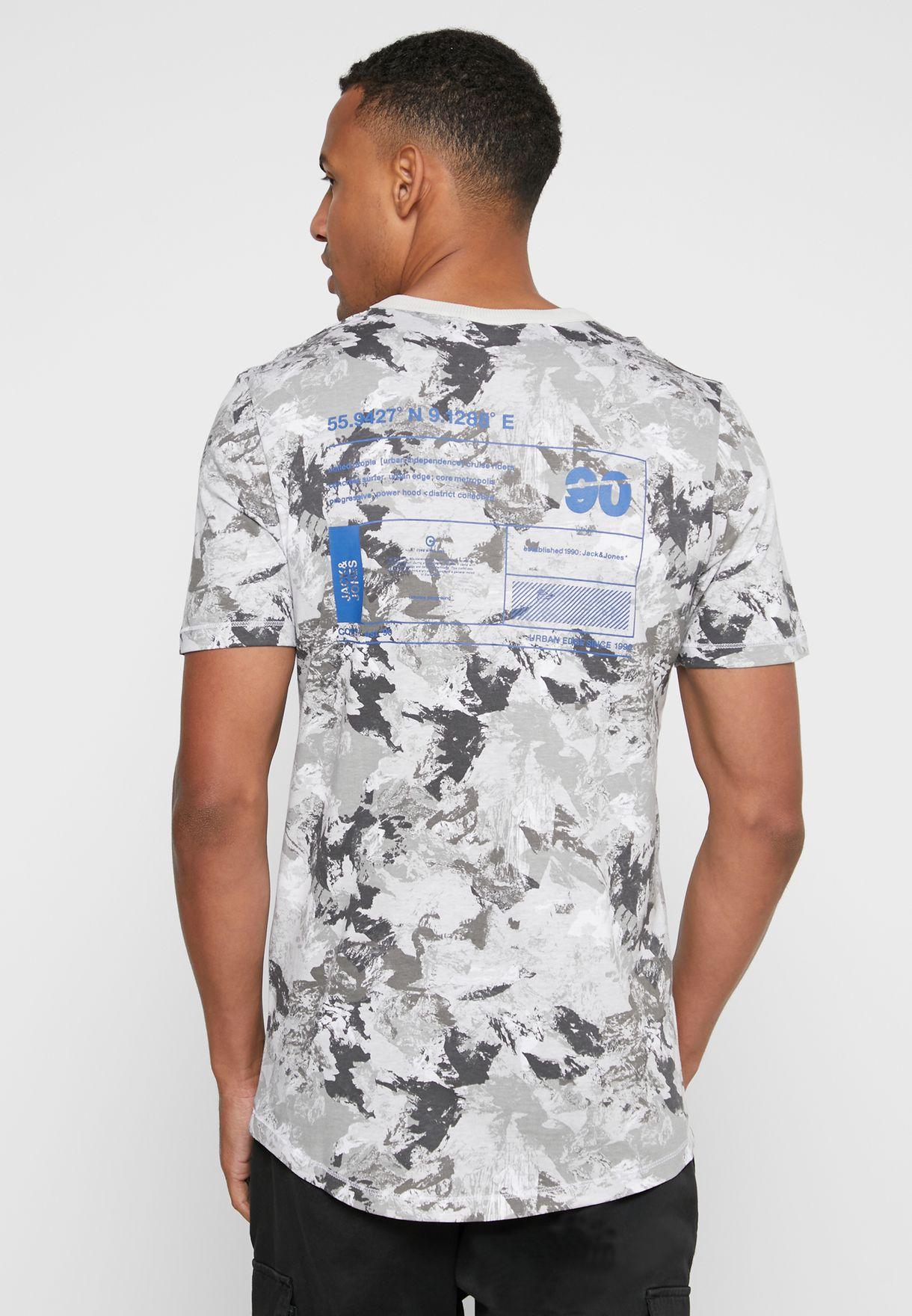 Camo Slim Fit Crew Neck T-Shirt