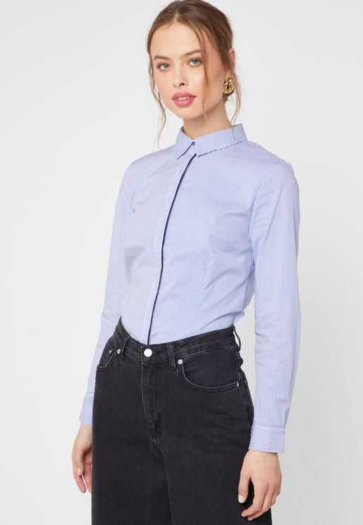 Contrast Piping Shirt