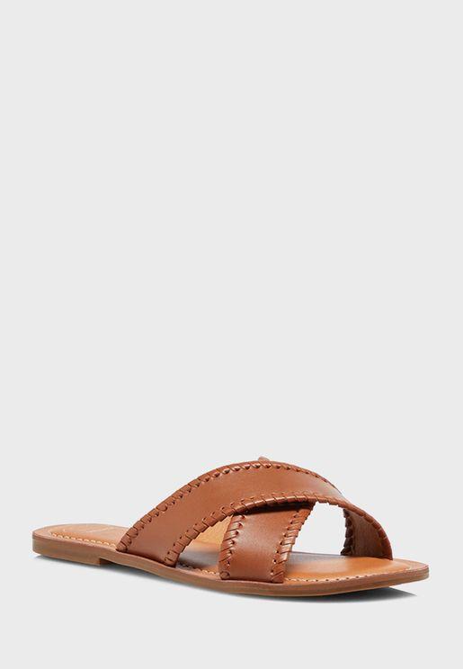 X Strap Flat Sandals