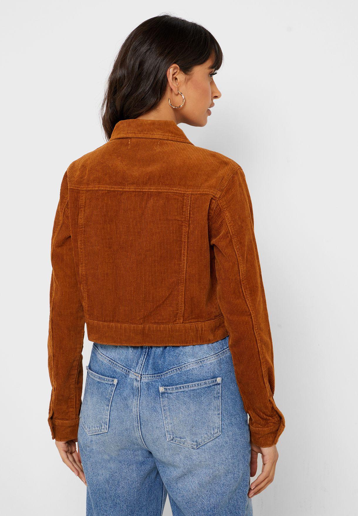 Pocket Detail Crop Jacket
