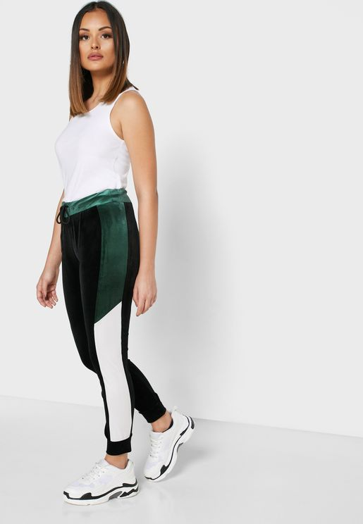 Colourblock Side Paneled Joggers