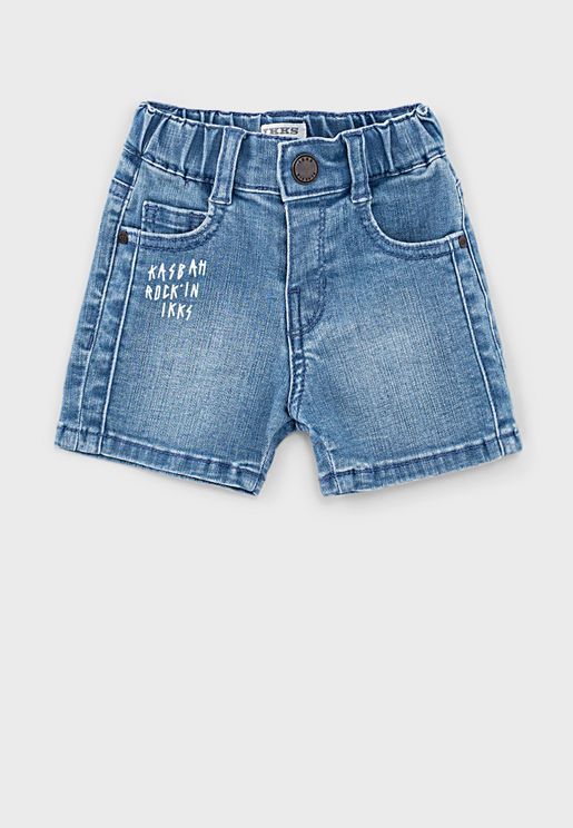 Kids Light Wash Denim Shorts
