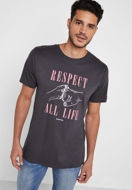 Stockholm Respect Life Crew Neck T-Shirt