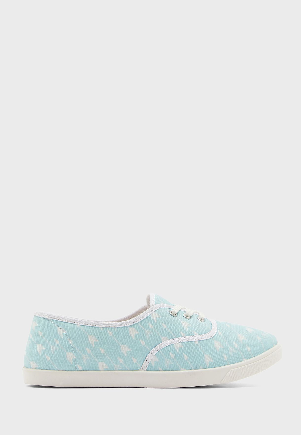 Lace Up Printed Slip On