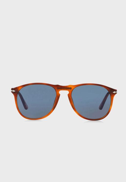0PO9649S Aviator Sunglasses