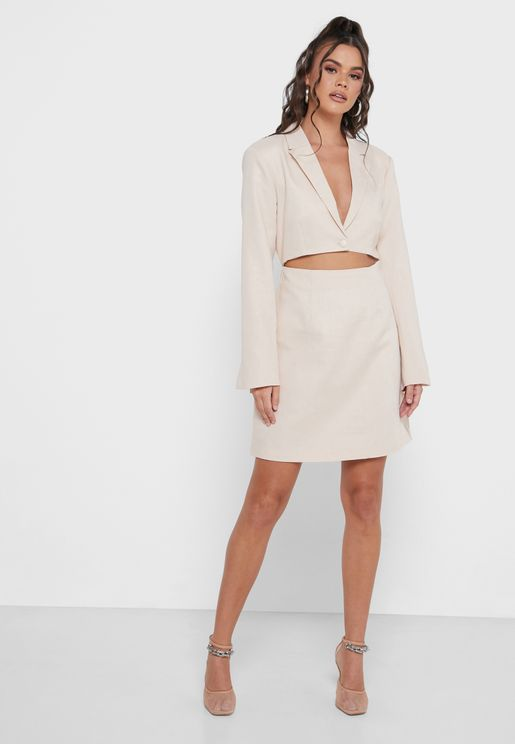 Cut Out Blazer Mini Dress