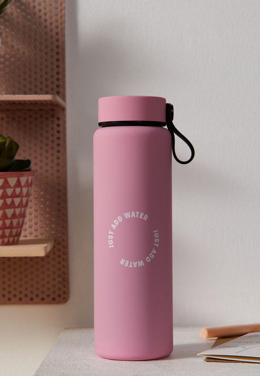 Plastic Pink Gotta Go Water Bottle