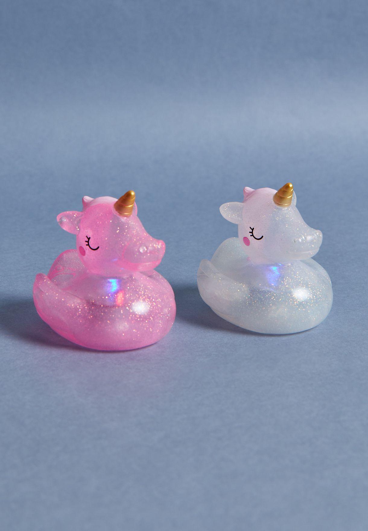 2 Pack Unicorn Light Bath Toy