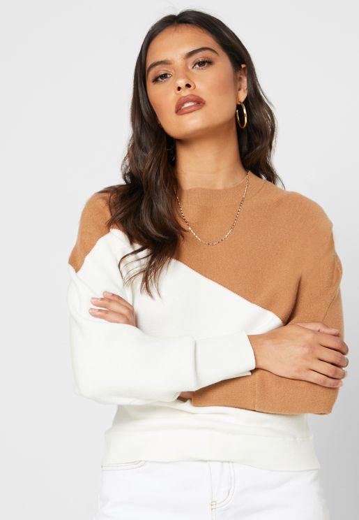 Colorblock Sweater